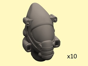 28mm Space elf guard head in Smoothest Fine Detail Plastic
