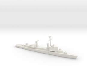 1/600 Scale USS Carpenter DDK in White Natural Versatile Plastic