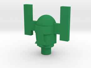 Spartak Sentry Head Only in Green Processed Versatile Plastic