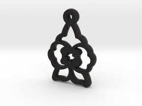 Wolfsbane Charm in Black Premium Versatile Plastic
