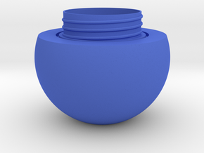 Sphere jar - bottom in Blue Processed Versatile Plastic