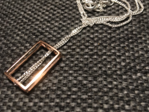 PHI Pendant in 14k Rose Gold