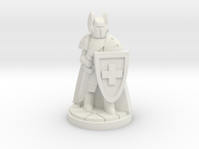 Order of the Red Cross Paladin Cleric in White Natural Versatile Plastic