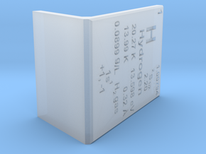 Hydrogen Element Stand in Smooth Fine Detail Plastic