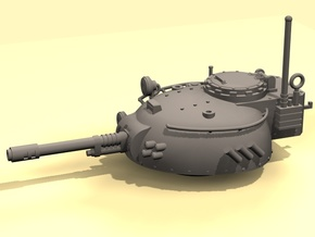 28mm Rauber tank turret - auto cannon in White Processed Versatile Plastic