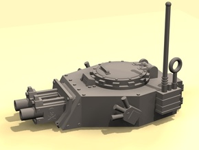 28mm APC turret x2 gyroject guns  in White Natural Versatile Plastic