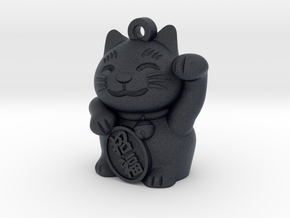 Lucky Cat Earring in Black Professional Plastic