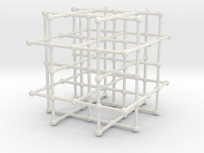 4-regular grid subgraph in White Natural Versatile Plastic