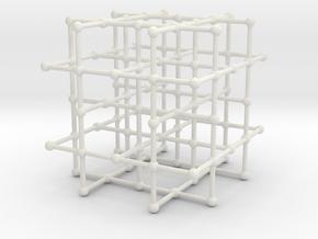 4-regular grid subgraph in White Natural Versatile Plastic