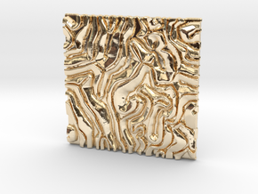 Coral pattern Seamless Decorative miniature  tiles in 14K Yellow Gold
