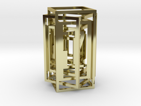Square lamp in 18k Gold Plated Brass