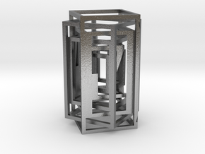 Square lamp in Natural Silver (Interlocking Parts)
