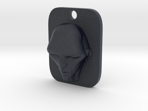 Personalised Man's Face Caricature Keyfob (003) in Black PA12