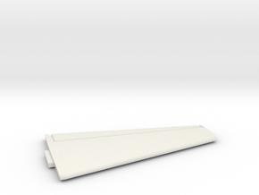 U-2R-144scale-03-HorizontalStabilizer-Port in White Natural Versatile Plastic