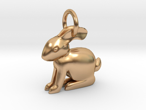 simple Rabbit in Polished Bronze