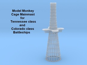 1/350 Tennessee and Colorado class Cage Mainmast in Smoothest Fine Detail Plastic