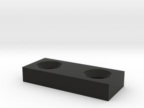 Sega Playfield Shooter Lane Brace v1.1 in Black Natural Versatile Plastic