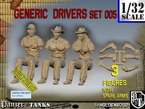 1/32 Generic Drivers Set005 in White Natural Versatile Plastic