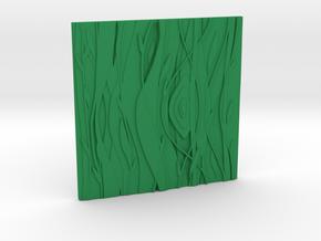 Floral Decorative tile 9.2x9.2x.67 cm in Green Processed Versatile Plastic