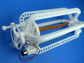 Rubber band dinamo parts in White Natural Versatile Plastic