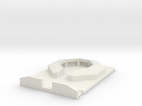 flak 88 emplacement scale 1/160 in White Natural Versatile Plastic
