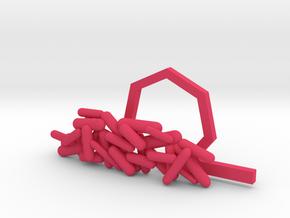 Gram Negative Bacilli Tie Clip in Pink Processed Versatile Plastic
