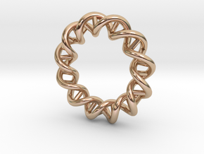 Mithocondria DNA pendant necklace in 14k Rose Gold Plated Brass