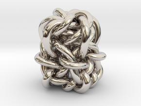 B&G Knot 01 in Rhodium Plated Brass
