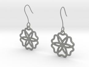 Geometric Earrings in Gray PA12