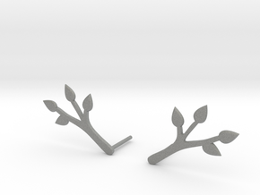 Branch earrings.stl in Gray PA12