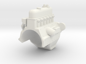 MST CFX UNIMOG ENGINE BLOCK in White Natural Versatile Plastic
