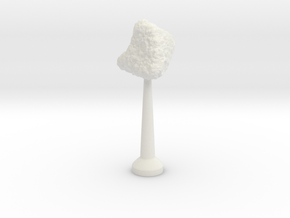 Single Stand 20mm Asteroid 5 in White Natural Versatile Plastic