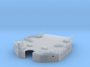 1/144 Bismarck AftSuperstructure 2nd Deck in Smooth Fine Detail Plastic
