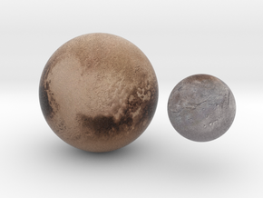 Pluto & Charon 1:100 million in Natural Full Color Sandstone