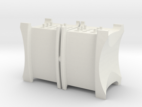 Sugarcube 10014 ø40 ver1.1 in White Natural Versatile Plastic