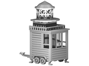 "Kassenwagen / Ausschank ""Leuchtturm"" 1:87 (H0 scal in White Strong & Flexible"