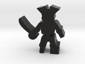 Game Piece, Pirate Skeleton, peg leg in Black Natural Versatile Plastic