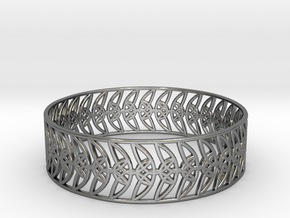 Enneper Curve Bracelet (004) in Fine Detail Polished Silver