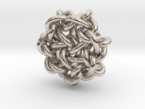 B&G Knot 15 in Rhodium Plated Brass