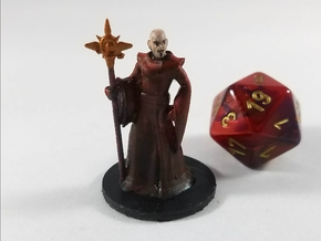 Human Evocation Wizard in Smooth Fine Detail Plastic