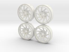 Rotiform YVR MST Changeable insert set in White Natural Versatile Plastic