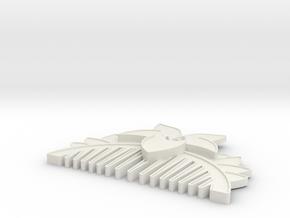 Mulan Comb in White Natural Versatile Plastic
