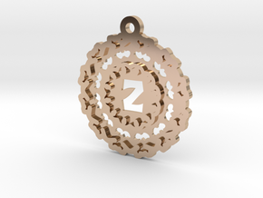 Magic Letter Z Pendant in 14k Rose Gold Plated Brass