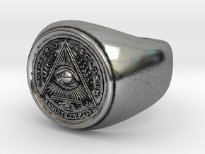 Illuminati Ring in Antique Silver