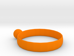 Ring of Basketball in Orange Processed Versatile Plastic: Medium