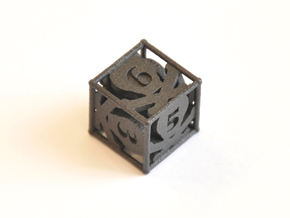D6 Balanced - Skull and Bones in Matte Black Steel