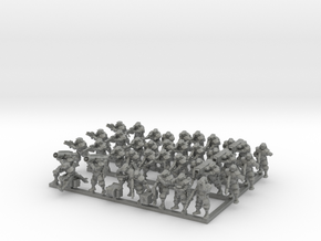 Zeus Pattern Light Infantry 1/285 38 pieces  in Gray Professional Plastic