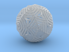 Dodecahedron to Icosahedron Transition in Smooth Fine Detail Plastic