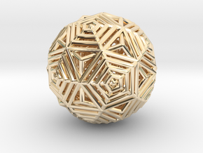 Dodecahedron to Icosahedron Transition in 14K Yellow Gold