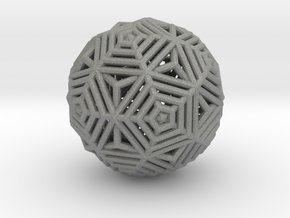 Dodecahedron to Icosahedron Transition in Gray Professional Plastic
